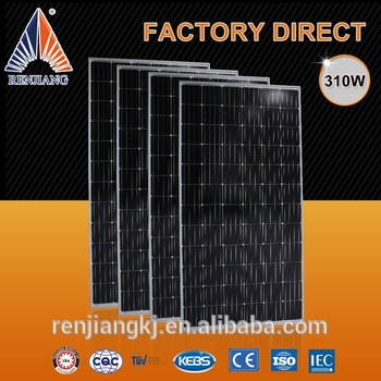china manufacturer high efficiency A grade mono 310 watt solar panel for home
